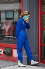 GIGI HADID in Nasa Jumpsuit Out in New York 10/25/2017