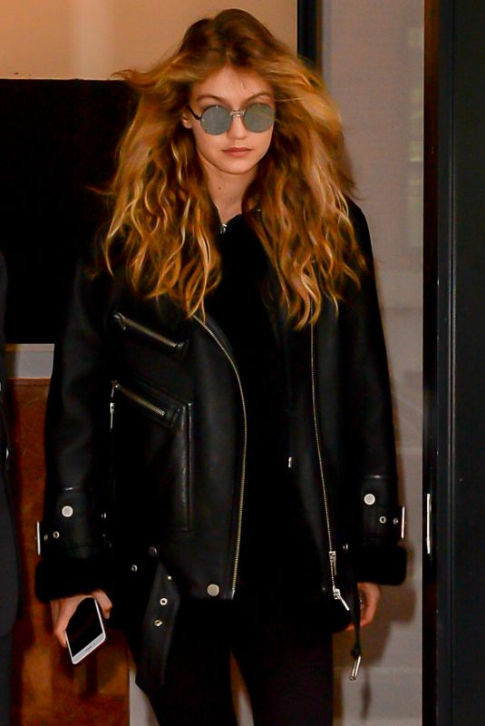 GIGI HADID Leaves Her Apartment in New York 10/26/2017
