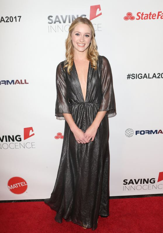 GREER GRAMMER at 6th Annual Saving Innocence Gala in Hollywood 09/30/1017