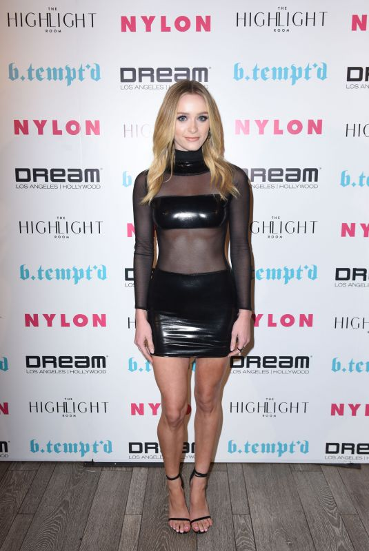 GREER GRAMMER at Nylon's It Girl Party in Hollywood 10/12/2017