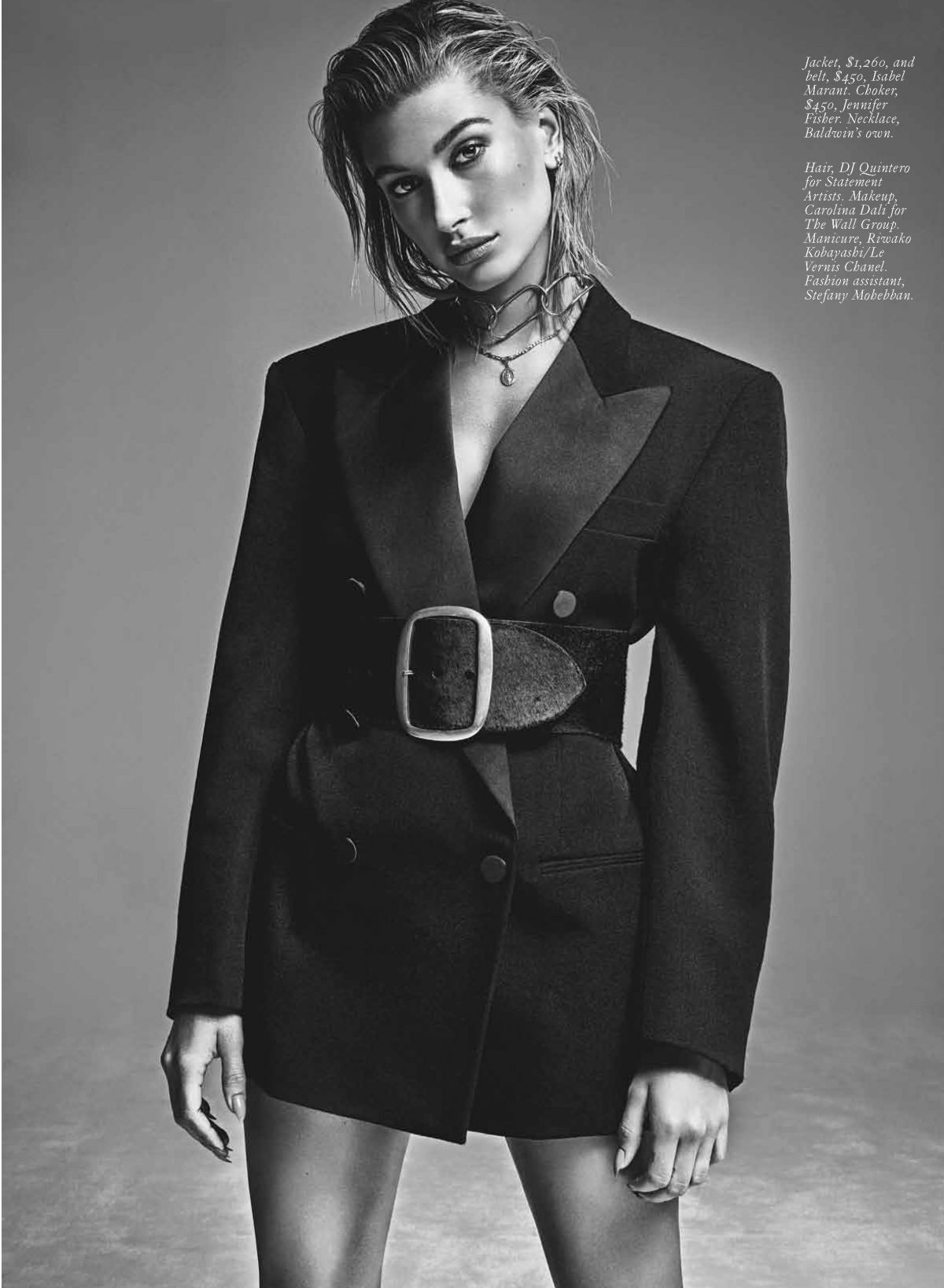 HAILEY BALDWIN In Fashion Magazine, October 2017 Issue