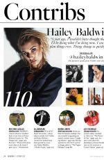 HAILEY BALDWIN in Fashion Magazine, October 2017 Issue