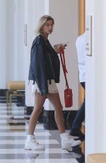 HAILEY BALDWIN Out for Lunch at Waldorf Astoria in Beverly Hills 10/28/2017