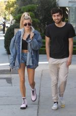 HAILEY BALDWIN Out for Lunch with a Friend in Melrose Place 10/10/2017