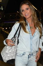 HEIDI KLUM at LAX Airport in Los Angeles 10/27/2017