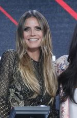 HEIDI KLUM at One Coice: Somos Live! a Concert for Disaster Relief in Los Angeles 10/14/2017