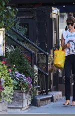 HELENA CHRISTENSEN Out Shopping in New York 10/04/2017