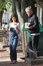 HILARIA and Alec BALDWIN at Starbuck in New York 10/03/2017