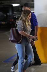 HILARY DUFF Arrives at Artrebel in Studio City 10/28/2017