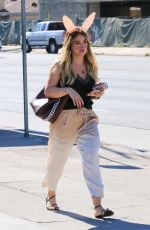 HILARY DUFF as a Bunny Out in Los Angeles 10/27/2017