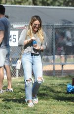 HILARY DUFF at Her Son