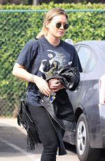 HILARY DUFF Out and About in Beverly Hills 10/19/2017