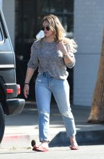 HILARY DUFF Out and About in Studio City 10/28/2017