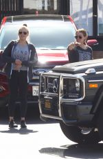 HILARY DUFF Out for Lunch at Katsuya in Hollywood 10/09/2017
