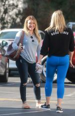 HILARY DUFF Out for Lunch at The Counter in Studio City 10/03/2017