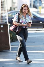 HILARY DUFF Out for Lunch at Zinque Cafe in West Hollywood 10/27/2017