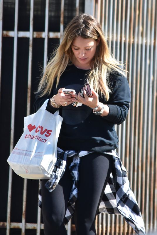 HILARY DUFF Out in Studio City 10/17/2017