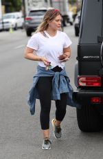 HILARY DUFF Out in West Hollywood 10/03/2017