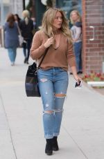 HILARY DUFF Receives a Parking Ticket Out in Los Angeles 10/30/2017