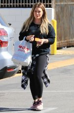HILARY DUFF Shopping at CVS in Los Angeles 10/17/2017