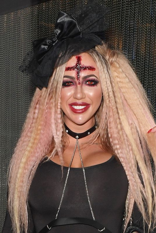 HOLLY HAGAN Out for Halloween Party in London 10/26/2017