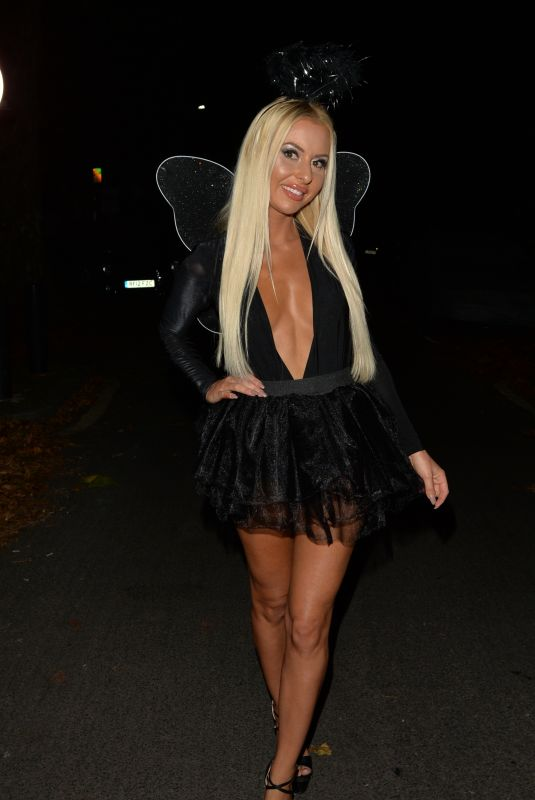 HOLLY RICKWOOD Arrives at a Halloween Party in Kent 10/30/2017