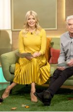 HOLLY WILLOGHBY on the Set of This Morning Show in London 10/03/2017