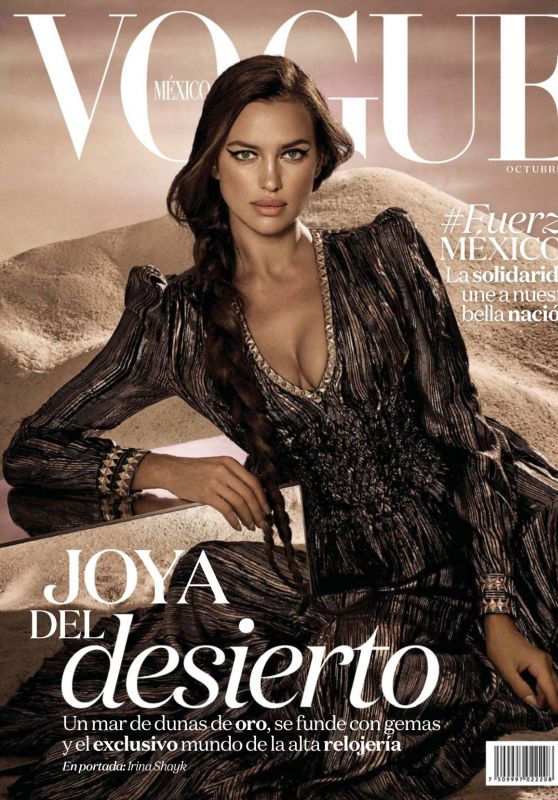 IRINA SHAYK on the Cover of Vogue Magazine, Mexico October 2017