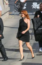 ISLA FISHER Arrives at Jimmy Kimmel Live in Los Angeles 10/05/2017