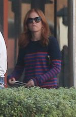 ISLA FISHER at Cafe Gratitude in Beverly Hills 10/08/2017