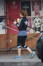 ISLA FISHER Out for Coffee in Los Angeles 10/20/2017
