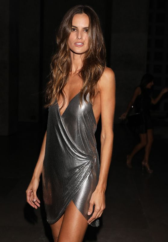 IZABEL GOULART Arrives at CR Fashion Book Launch Party in Paris 09/30/2017