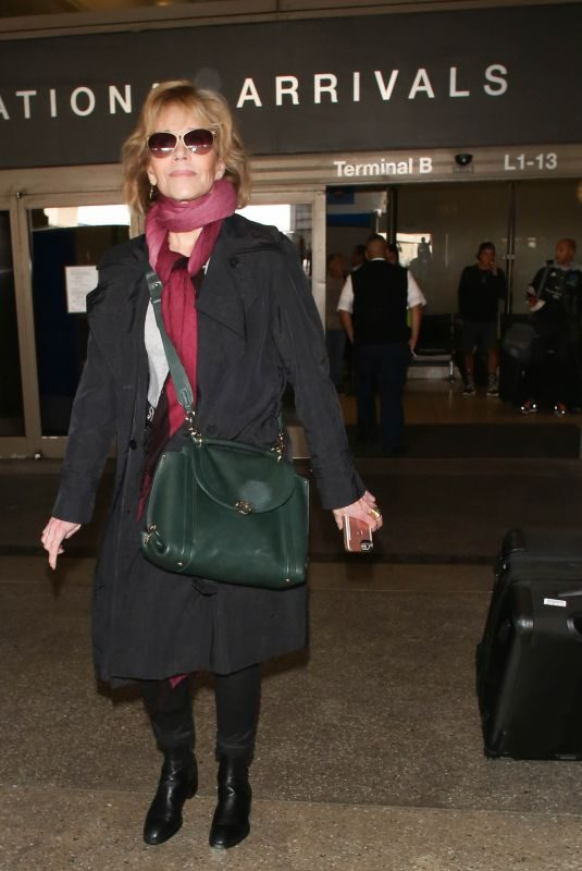 JANE FONDA at Los Angeles International Airport 10/02/2017