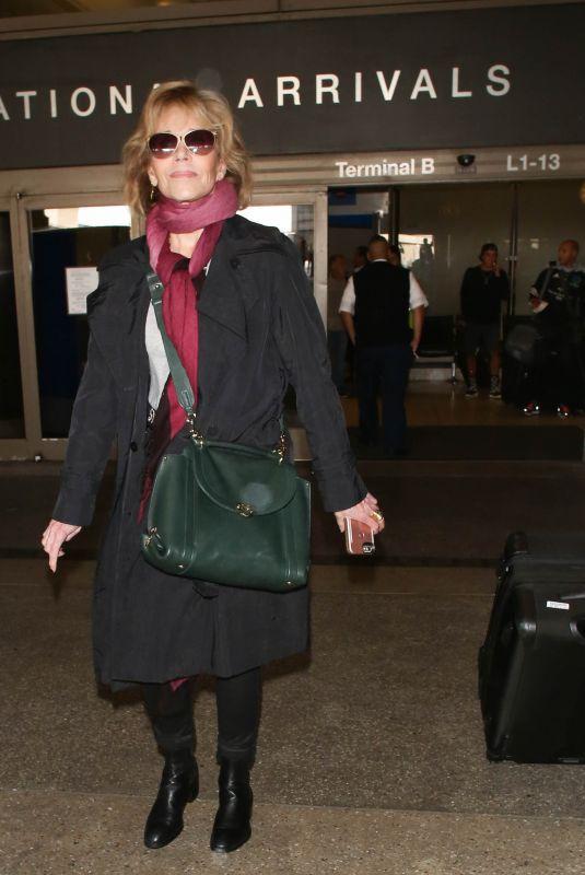 JANE FONDA at Los Angeles International Airport 10/02/2017