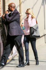 JANUARY JONES Arrives at Jimmy Kimmel Live in Los Angeles 10/09/2017