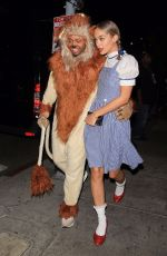 JASMINE SANDERS as Dorothy Arrives at a Halloween Party in Hollywood 10/28/2017