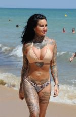 JEMMA LUCY in Bikini at a Beach in Portugal 10/10/2017