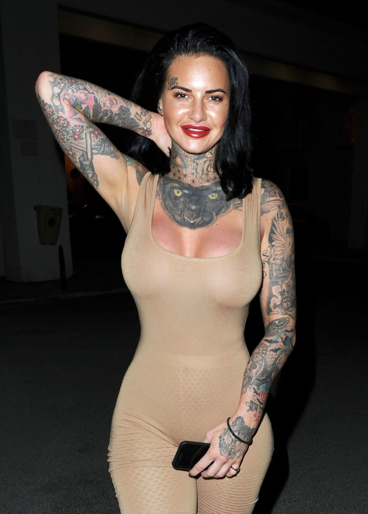 JEMMA LUCY in Tights Out and About in Manchester 10/23 ...