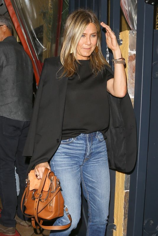 JENNIFER ANISTON and SANDRA BULLOCK at Il Piccolino Restaurant in West Hollywood 10/21/2017
