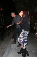 JENNIFER ANISTON and SANDRA BULLOCK at Il Piccolino Restaurant in West Hollywood 10/21/2017