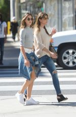 JENNIFER FLAVIN and SISTINE ROSE STALLONE Shopping at Chanel on Rodeo Drive 10/23/2017
