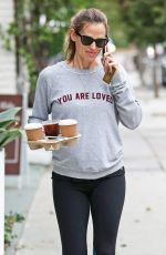 JENNIFER GARNER Out for Coffee in Los Angeles 10/30/2017