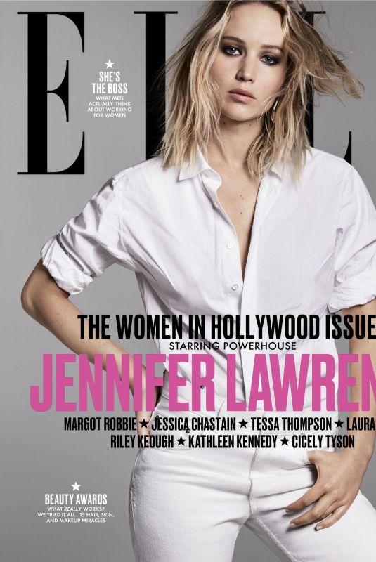 JENNIFER LAWRENCE in Elle Magazine, Women in Hollwood Issue, November 2017