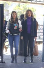 JENNIFER LOPEZ and LEAH REMINI on the Set of Second Act in New York 10/27/2017