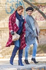 JENNIFER LOPEZ and VANESSA HUDGENS on the Set of Second Act in New York 10/27/2017