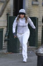 JENNIFER LOPEZ in Workout Clothes on the Set of Second Act in Queens 10/27/2017