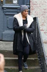 JENNIFER LOPEZ on the Set of Second Act in New York 10/26/2017