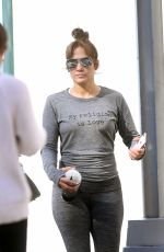 JENNIFER LOPEZ Out for Ice Cream After Workout in New York 10/20/2017