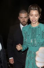 JESSICA BIEL and Justin Timberlake Leaves Wonderwall Screening in New York 10/14/2017