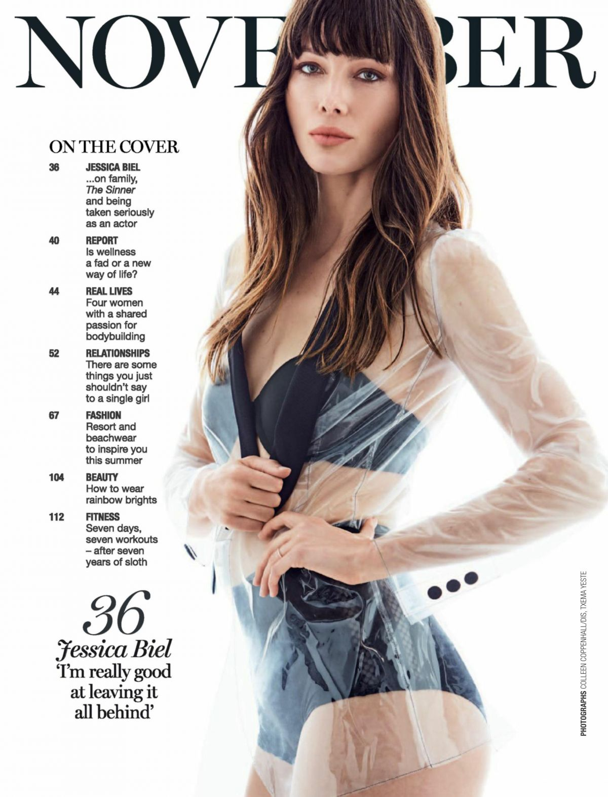 jessica biel in marie claire magazine south africa november 2017 hawtcelebs. Black Bedroom Furniture Sets. Home Design Ideas